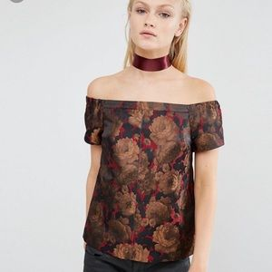 ASOS • Floral Jacquard with Open Back